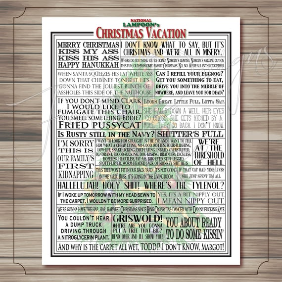National Lampoons Christmas Movie Quotes