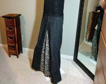 Boho Custom made, one of a kind maxi skirt
