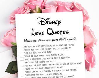 Disney Love Quotes Etsy