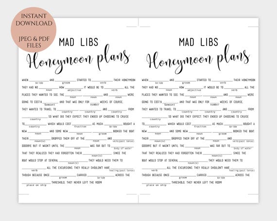 photograph relating to Mad Libs Printable Pdf called Bridal Crazy Libs match template Enjoyment Wedding day Madlibs \