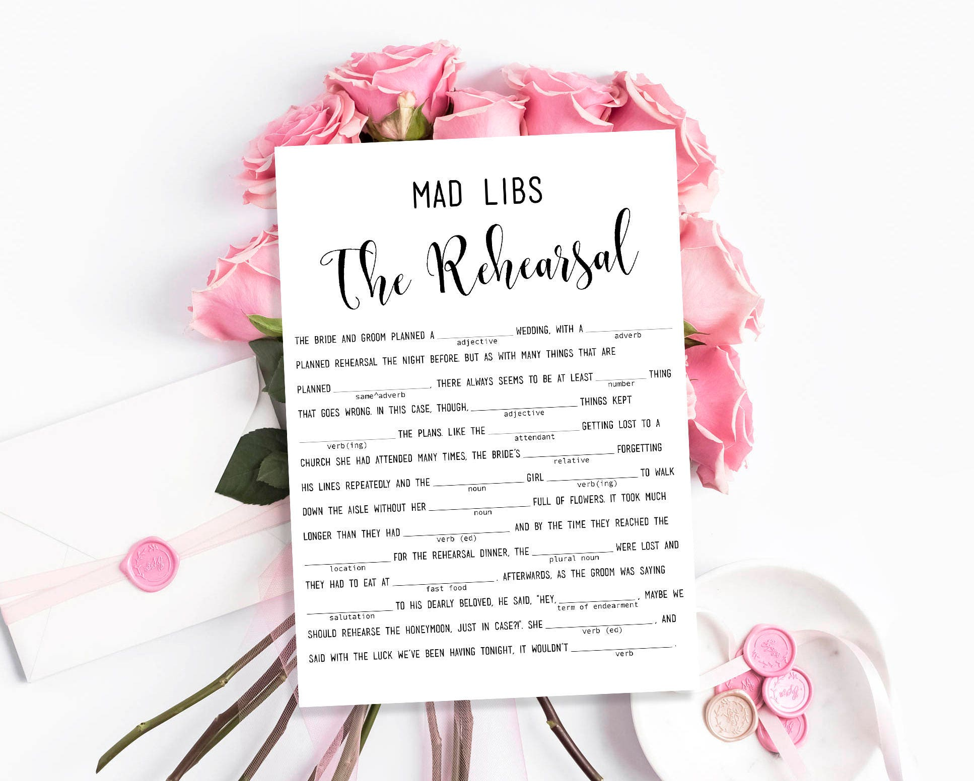 picture relating to Free Printable Wedding Mad Libs Template identify Mobi Descargar Wedding day Ridiculous Libs Printable The Rehearsal Clean