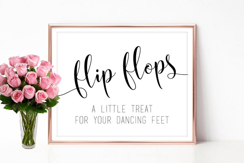 photograph relating to Flip Flop Printable named Marriage transform flop signal Printable convert flops signage Dancing sneakers indication 4x6 5x7 8x10 Immediate obtain PDF JPEG