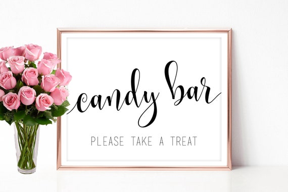 candy bar sign for wedding printable bridal shower candy table signage decor instant download pdf jpeg