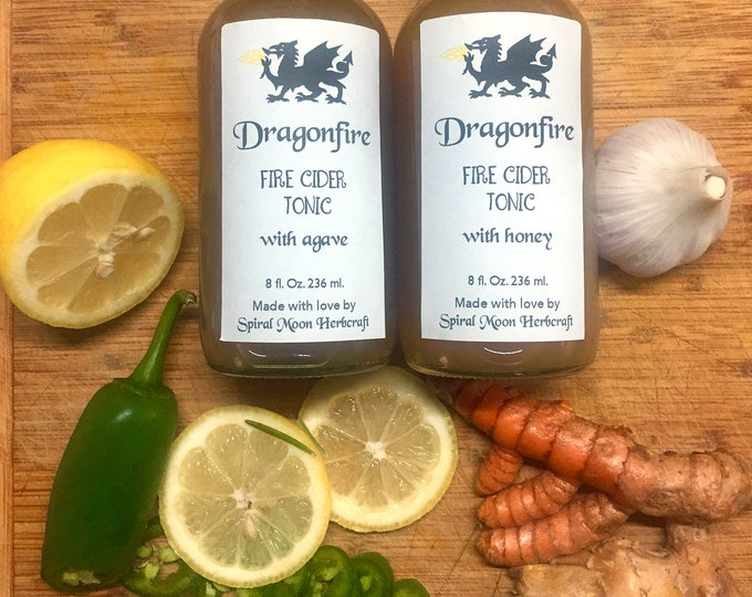 Dragonfire Fire Cider Tonic 8oz - 2 versions available