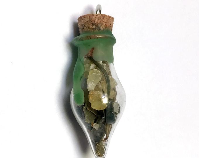 Prosperity Spell Bottle Pendant