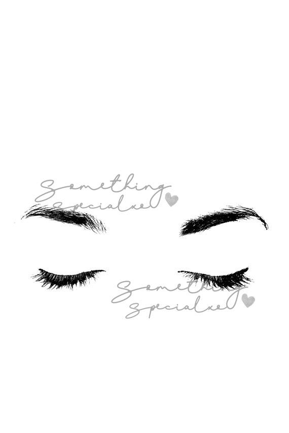 Closed Eyes Poster Mascara Eyelashes Lips Tumblr Etsy