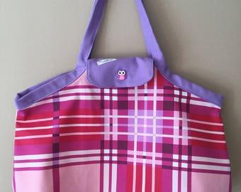 Great beach multi-purpose bag pink dot