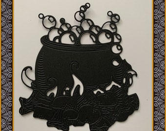 Halloween die cuts - cauldron x 4