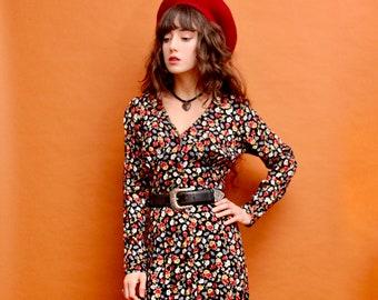 Rose Garden Button Down Vintage Pellini Dress