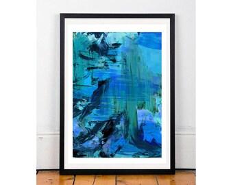 All Blue A4 Giclee Print