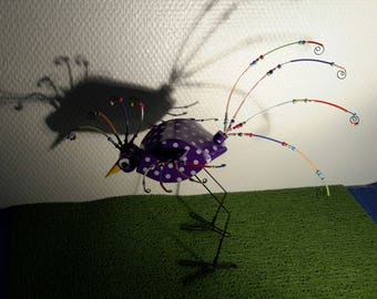 bird of paradise foam and beads.