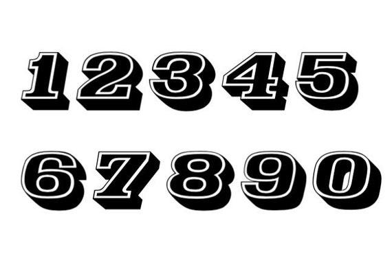"RACING NUMBERS 8/"" TALL"