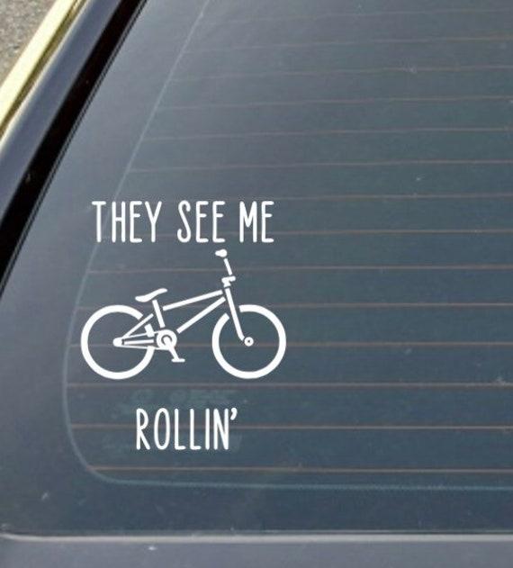 BMX Stunt Bike Rider Vinyl Home Wall Decal Sticker VE2