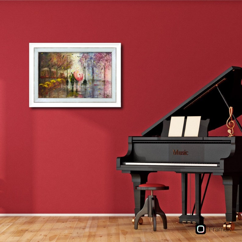 Love in the Fall Art Print home Decor by Ryan Joyce of Crazy Drum life Designs