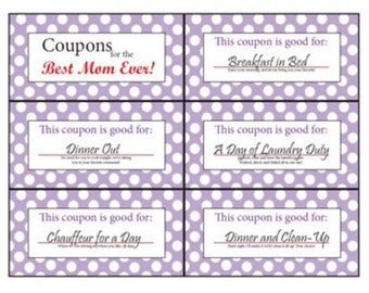 coupon book for mom etsy