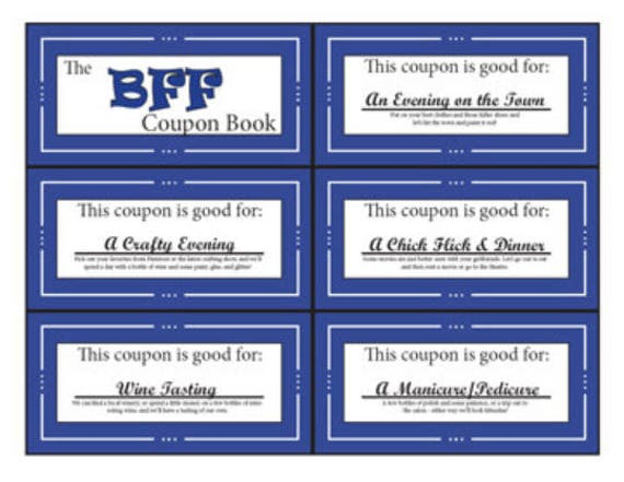 Bff Bestie Coupon Book Printable Digital Stocking Etsy
