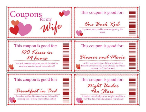 wife coupon book printable digital stocking stuffer etsy
