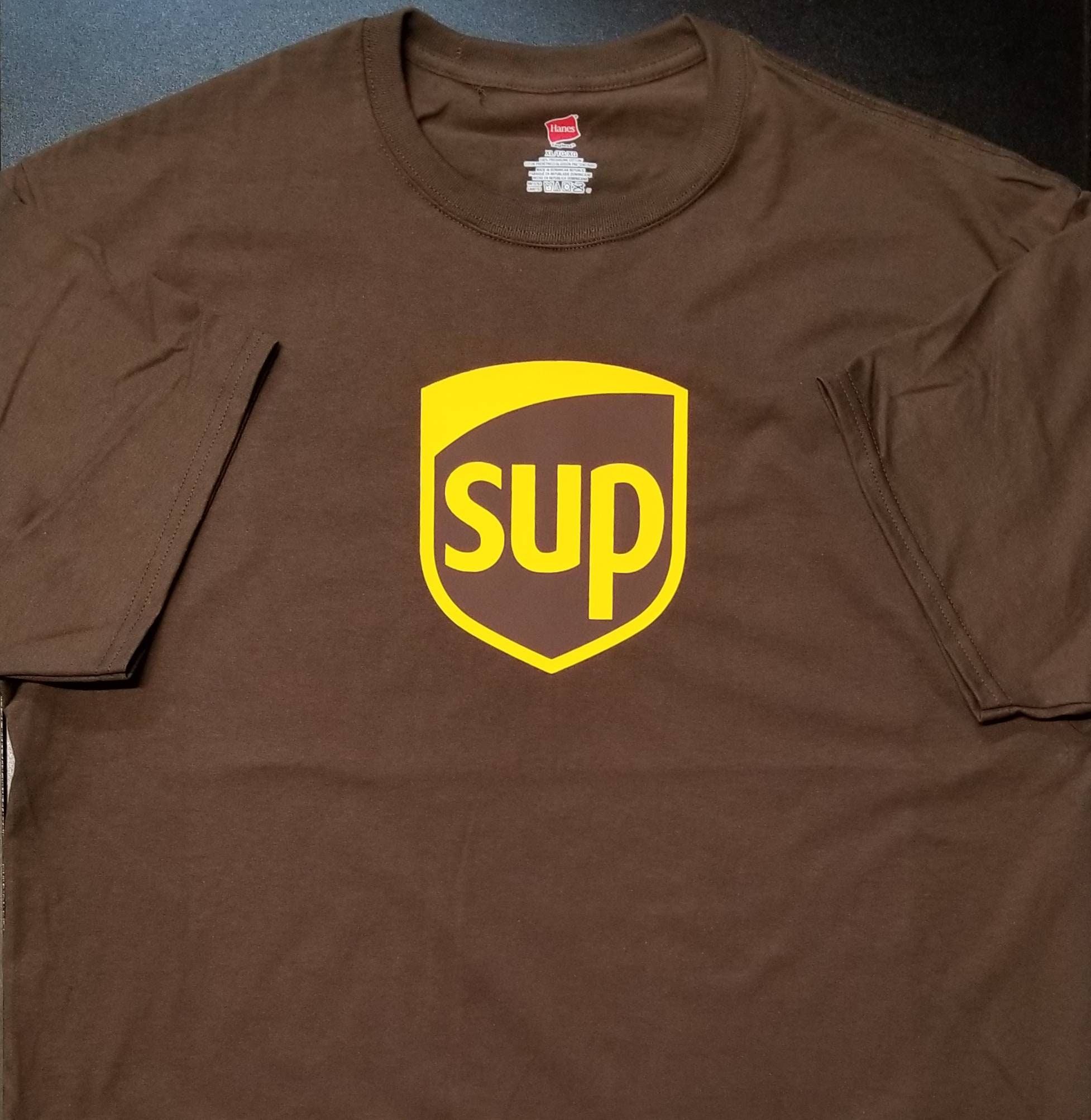 641073aa SUP? UPS parody T-Shirt