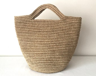 Natural Straw Raffia Handbag   Color Handwoven bag   Summer bag   Market  Tote   Gifts for her   For Mom   Handmade   Basket bag   Beach bag cd357160d54de