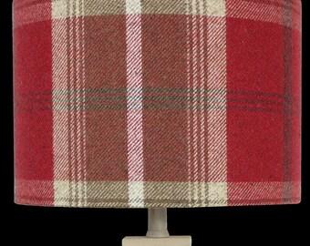 Red Skye  Tartan Tweed Highland Country Check Lampshade