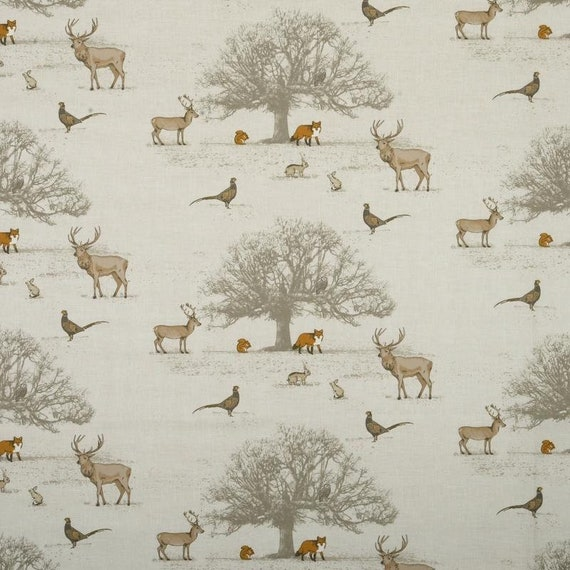 Fryetts Hartley Hare Rabbits Natural Fabric Curtain Upholstery Craft Quilting