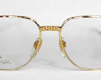 932d574afd7f2 Ettore Bugatti EB 500 0104 GGold Square grootte 56mm Vintage Designer  Eyeglasses Frame zonnebril