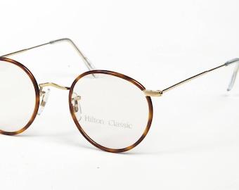 aa6ecdae79e Hilton Classic 1 Panto Chestnut Vintage 14K Rolled Gold Eyeglasses Optical Frame  Sunglasses