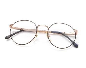 f3b8a94980d Vintage Hilton Special 7 Black   Silver Size 51-20 Eyeglasses Optical Frame  Eyewear Lunettes Sunglasses Glasses