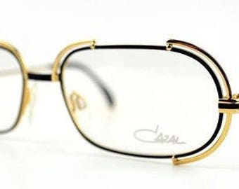 cd621876d61 Original NOS 80 s Vintage CAZAL 237 Gold Black 302 Designer Eyewear Optical  Eyeglasses Frame RX