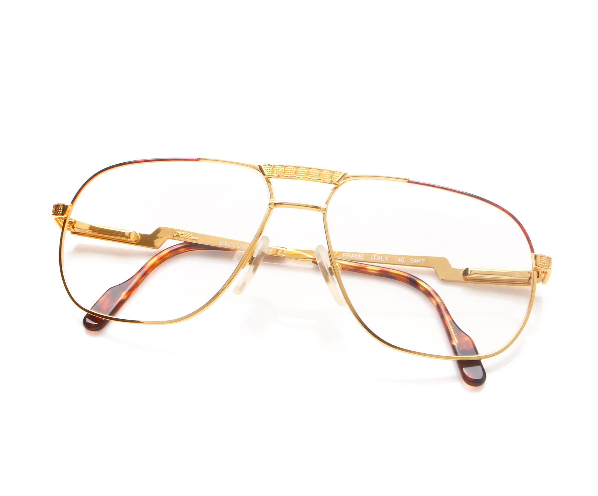 c90f00871b3 Vintage Hilton EXCLUSIVE 022 C2 Gold Brown 24Kt Gold Plated