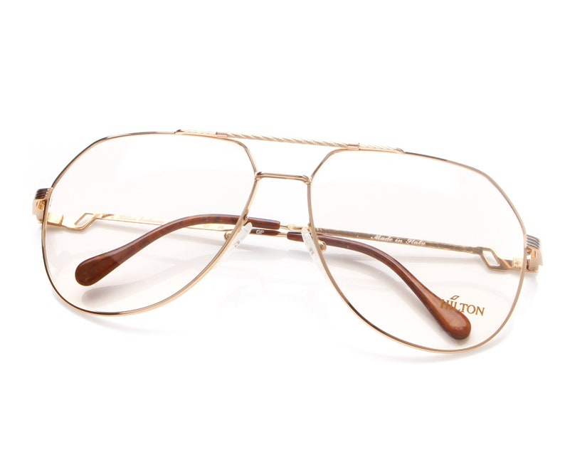 3c395382a0c53 Vintage Large Aviator 20KT Gold Plated Hilton Exclusive 14 C2