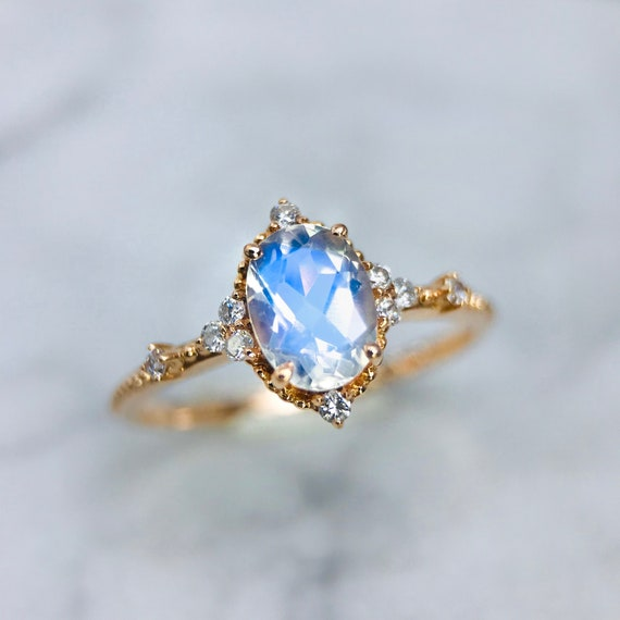 Nathis Dainty Stacking Moonstone Ring