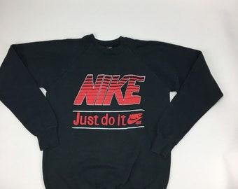 e312b8cd820d18 Original Vintage Nike Bootleg Sweater Crewneck. Size XL   Black. Retro.