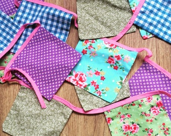 Floral and Pastels bunting