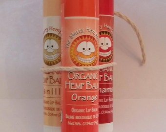 Organic Hemp Lip Balm 3 Pack