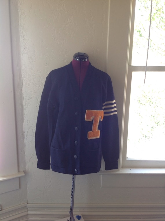 30s Letterman Sweater Jacket Athletic High School