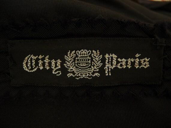 Ceil Chapman Gathered Black Silk Crepe Wiggle Coc… - image 10