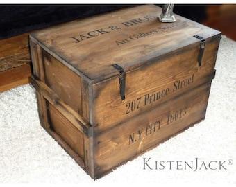 """Crate Chest Box Storage Box """"Soho"""""""