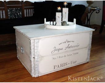"""Wooden box cargo box chest table coffee table """"Jaque"""""""