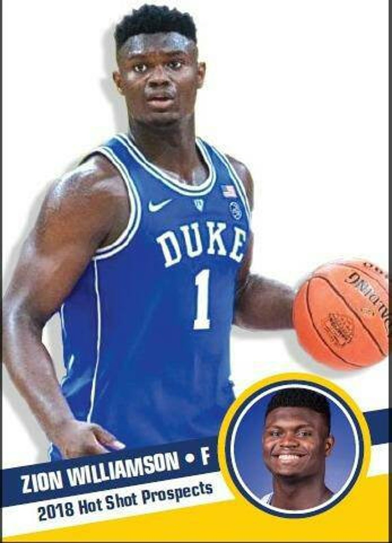 2018 Hot Shot Prospects Rookie Zion Williamson Duke
