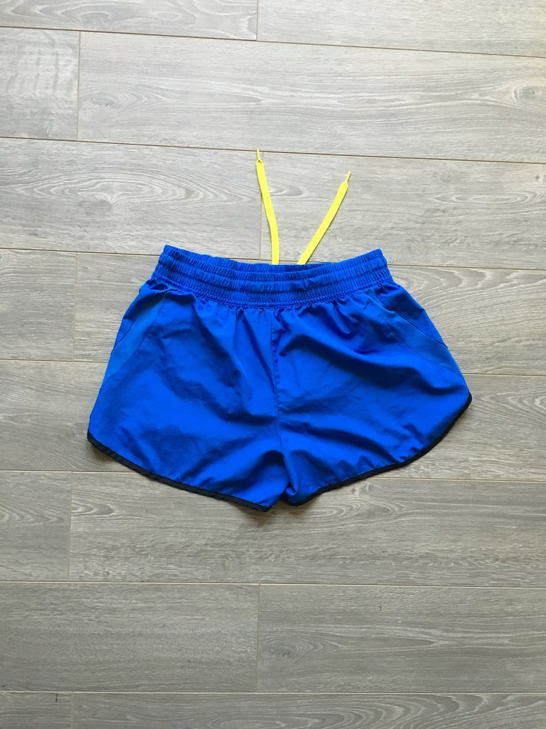 ac82d2f2cffd8 Womens vintage shorts size small Fila sport blue and neon yellow shorts  fitness work out running rare vintage womens s cute booty shorts