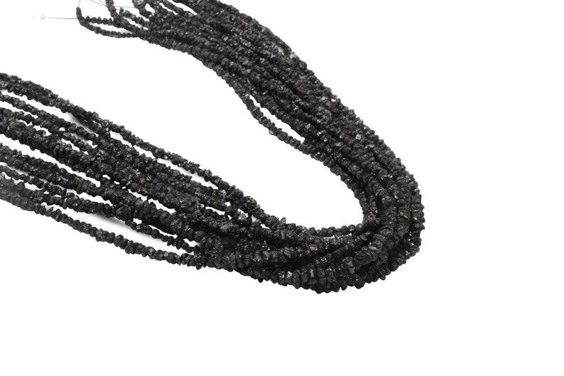Black Diamond 3mm Faceted Rondelles Beads Natural Precious Diamond Beads 16 Strand