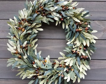 Faux olive wreath , Every Day Wreath
