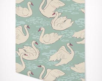 Vintage Swan Wallpaper Self Adhesive Premium Quality Multi Purpose Peel Stick