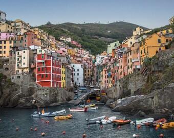 Riomaggiore Cinque Terre Italy Art Print Wall Decor Image Detail - Unframed Poster