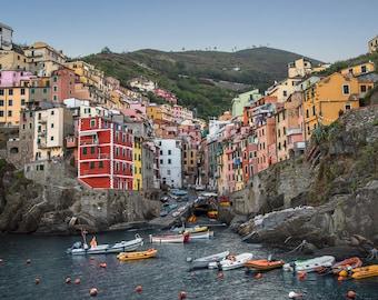 Riomaggiore Cinque Terre Italy Art Print Wall Decor Self-Adhesive - Wallpaper Sticker