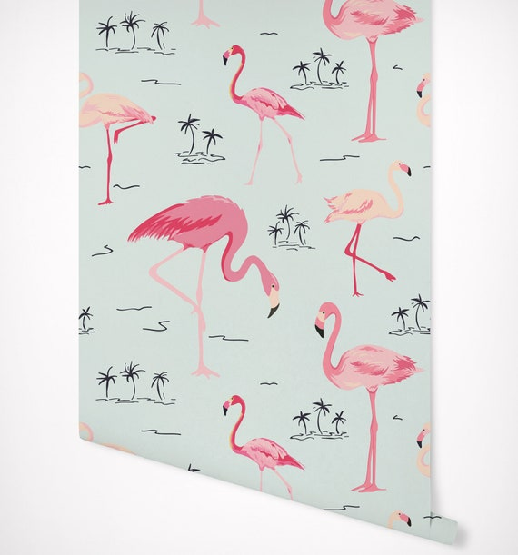 Flamant Rose Tropical Wallpaper Auto Adhesif Premium Qualite Multi