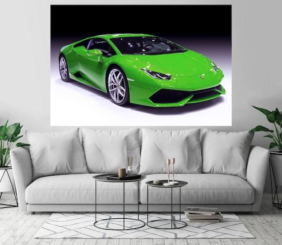 Lamborghini Huracan Sports Car Art Print Wall Decor Etsy