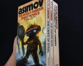Isaac Asimov - The Robot Novels Box Set - Granada Books - 1985 - Cover Art By Chris Foss - Vintage Scifi Paperbacks
