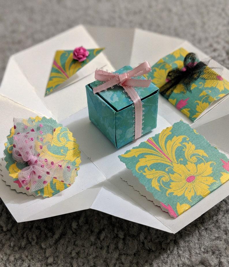 Exploding Box Handmade Card Birthday Gift